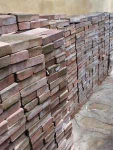 One of the more unusual listings on the Freecycle Community - a job lot of Paving Bricks.
